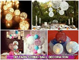 Diy String Ball Decorations Unique DIY Pretty String Ball Decoration For Christmas