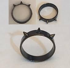 <b>1pcs Black Stainless Steel</b> Ring 3x Rivet Spikes Scriber Weapon ...
