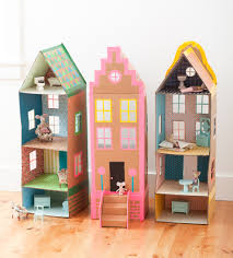 Cardboard Brownstone Doll House | mer mag