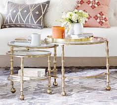 round glass nesting tables