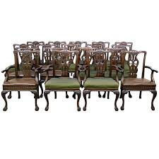dining room chairs with arms for sale. large and fantastic set of 18 antique chippendale dining room chairs 1 with arms for sale r