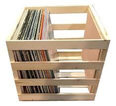 vinyl storage crate 2 of 3 wooden record al and display diy