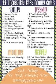 best short term goals ideas term sheet template 37 incredibly easy family goals goals worksheetshort term