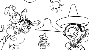 Colouring Picture Of Jokie And Jet In Mexico Efteling Kids
