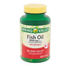 Spring Valley Omega-3 <b>Fish Oil</b> Soft Gels, <b>1000 mg</b>, 300 Count ...