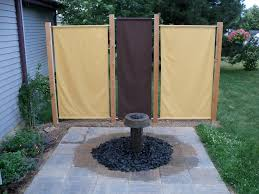 I build this fountain and fabric privacy screens off my deck to make it a  bit
