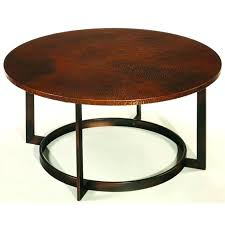 round cocktail table in copper hammary mercantile coffee