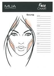 Round Face Chart Contouring Makeup Muatips Face