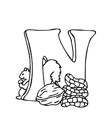 Free Alphabet Coloring Pages N Is Nuts Alphabet Coloring Pages Of