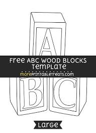 Free Abc Wood Blocks Template Large Baby Shower Printables