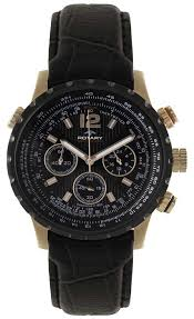 rotary mens black gold leather watch gsi00121 04 rotary gsi00121 04
