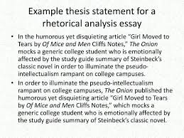 Examples Of Critical Analysis Essays Examples Of Literary Essay