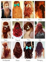 Orange Hair Colour Chart Hair Red And Ginger Image In 2019 Red Hair Color