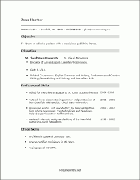 No Work Experience Resume Template Best Resume Template For Students With No Work Experience High School