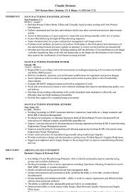 Manufacturing Engineer Resume Sample Manufacturing Engineer Job Description - sarahepps.com -