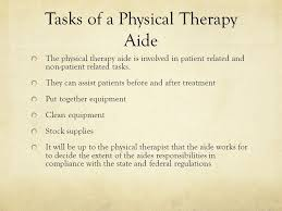 physical therapist aide unit objective 6 hilari pectol the role of a physical therapy aide