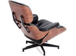 replica eames chair. BLACK WAXED ANILINE Replica Eames Chair