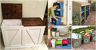 Recycle Bins For Home Amazing 32 DIY Home Recycling Bins That Help You Organize Your Recyclables