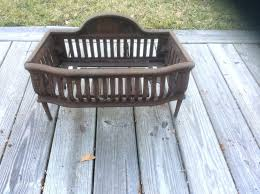 small fireplace grates antique cast iron fireplace grate coal box basket wood log holder insert extra