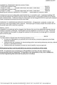 Peninsula Light Company Washington Guidelines For Commercial Electric Service Hookup Pdf Free