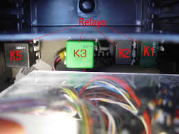 bert rowe s a class info battery compartment fuses relays when the foam packing is carefully removed the relays can be seen care should be exercised not to unduly disturb the masses of wires that come together in