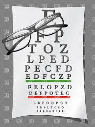 Eye Charts And Glasses Stock Vector Image