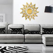 generic acrylic wall mirror stickers mirror decal sunshine fire room bedroom kitchen bathroom stick decal home