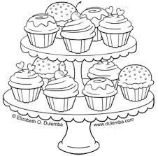 Small Picture dulemba Coloring Page Tuesday Tier of Cupcakes