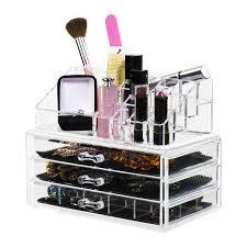 pact lipstick and makeup organizer 3 drawers acrylic displays acrylic pop displays