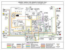 1958 58 ford cars full color laminated wiring diagram 11 x 17 1928 1929 1930 1931 ford model a full color laminated wiring diagram 11