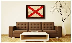 on alabama state wall art with alabama state flag home d cor framed room wall canvas art gift 6007