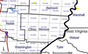 richard wells Monroe County Ohio Road Map monroe county ohio plat map for ranges and townships road map of monroe county ohio