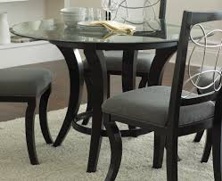 glass top round dining table. Dining Room, : Delightful Small Room Decoration Using Glass Top 48 Inch Leaf Round Table