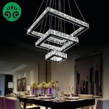luxury modern led 3 tier square crystal chandelier pendant light