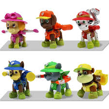 <b>6PCS Paw Patrol</b> Action Figures Jungle Rescue PVC <b>Dog</b> Cake ...
