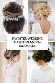 5 Winter Wedding Hair Tips And 34 Examples Cover Hairstyles For