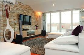 surprising decorating ideas with stone wall in living room elegant decorating ideas using rectangular grey