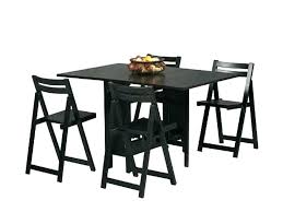 black wood dining room table folding table chair set white fold up table and chairs table