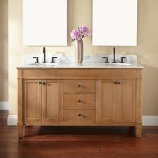 double vanity cabinet. Contemporary Double Natural Unfinished Oak Wood Vanity Cabinet Mixed Black Polished Metal  Faucet Mesmerizing Double For Bathroom Decoration Ideas Bathroom Furniture Inside E