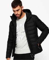 Superdry Jacket Size Chart Mens Double Zip Tweed Fuji Hooded Jacket In Black Superdry