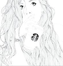 Valuable Design Starbucks Coloring Pages Coffee Logo Cup Page Coloring