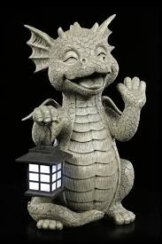 dragon garden figurine meditation