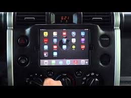 toyota fj ipad mini in dash
