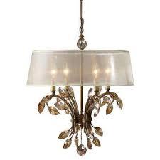 4 light gold chandelier
