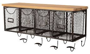 Wall Coat Rack With Baskets 100 Basket Organizer Wall Mounted Coat Rack Reviews Joss Main 39