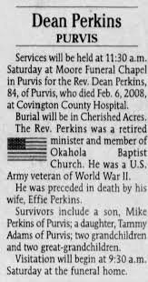 Obituary for Dean Perkins (Aged 84) - Newspapers.com