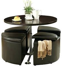 storage dining table round gas lift dining table with 4 storage ottomans round dining table with