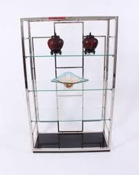 vintage chrome and glass shelves 2