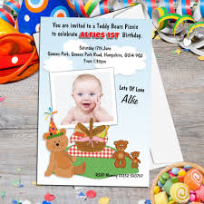 personalised 1st birthday invitations inspirational birthday invitation teddy bear invitations for 1st birthday