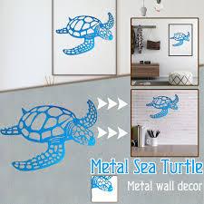 metal sea turtle metal wall art metal
